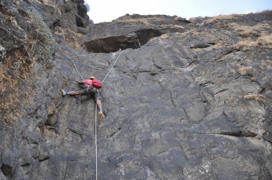 Maddy climbing