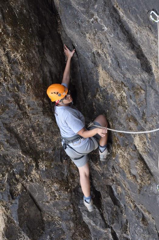 Jammy climbing